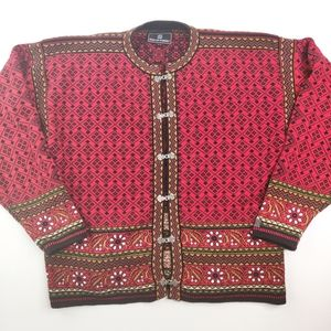 Dale of Norway 100% Bomull Cardigan Sweater Clasps